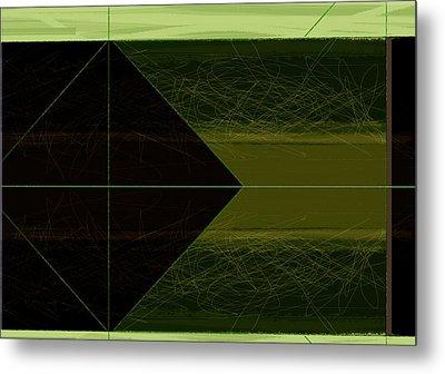 Green Square Metal Print by Naxart Studio