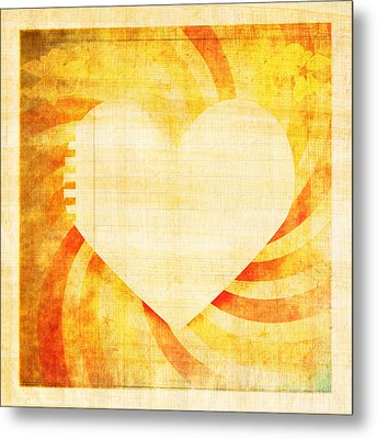 greeting card Valentine day Metal Print by Setsiri Silapasuwanchai