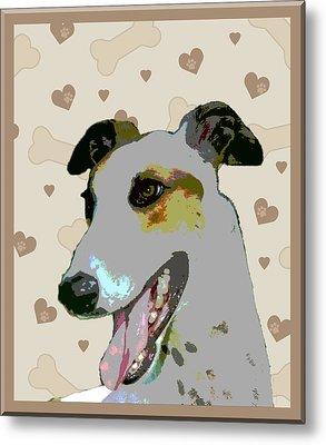 Greyhound Metal Print by One Rude Dawg Orcutt