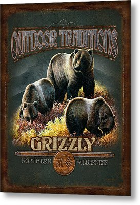 Grizzly Traditions Metal Print by JQ Licensing