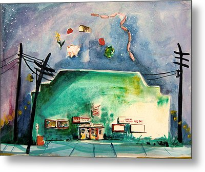 Groceries Come And Go Metal Print by Mindy Newman