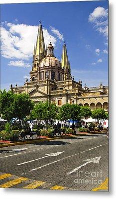 Guadalajara Cathedral Metal Print by Elena Elisseeva