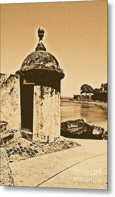 Guard Post Castillo San Felipe Del Morro San Juan Puerto Rico Rustic Metal Print by Shawn O'Brien