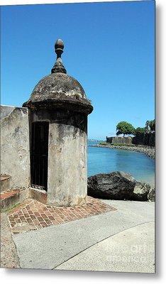 Guard Post Castillo San Felipe Del Morro San Juan Puerto Rico Metal Print by Shawn O'Brien