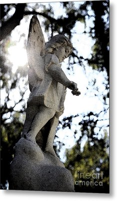 Guardian Angel With Light From Above Metal Print by Nina Prommer