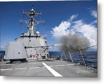 Guided-missile Destroyer Uss Pinckney Metal Print by Stocktrek Images