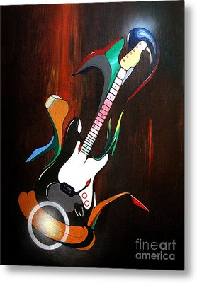 Guitar Melody Metal Print by Peter Maricq