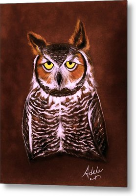 Gullie Metal Print by Adele Moscaritolo