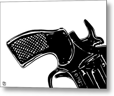 Gun Number 2 Metal Print by Giuseppe Cristiano