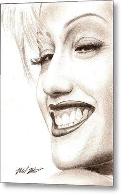 Gwen Stefani Metal Print by Michael Mestas