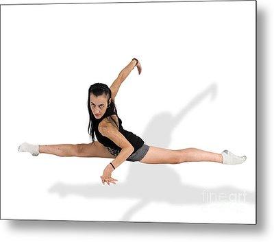 Gymnast Does The Splits  Metal Print by Ilan Rosen