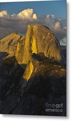 Half Dome At Sunset Metal Print by Rodney Cammauf