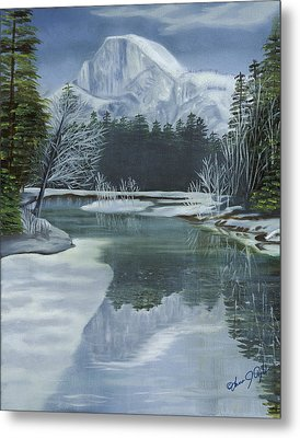 Half Dome Reflections Metal Print by Lana Tyler