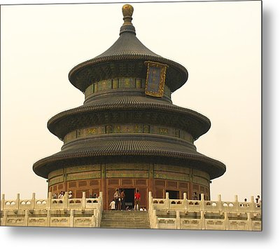 Hall Of Prayer For Good Harvests Metal Print by Richard Nowitz
