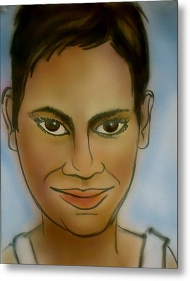 Halle Berry Metal Print by Pete Maier