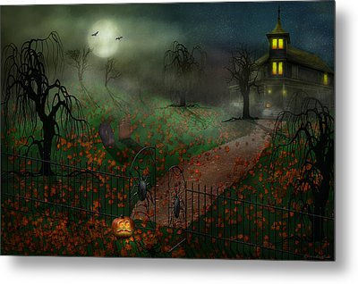 Halloween - One Hallows Eve Metal Print by Mike Savad
