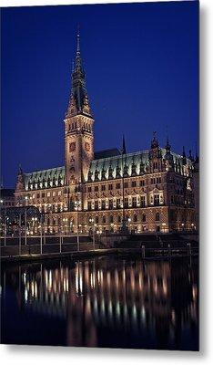 Hamburg City Hall Metal Print by Benjamin Matthijs