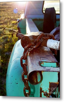 Hammer Chain And Truck Metal Print by Wesley Hahn