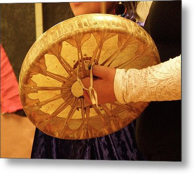 Hand Drum Metal Print by FeVa  Fotos