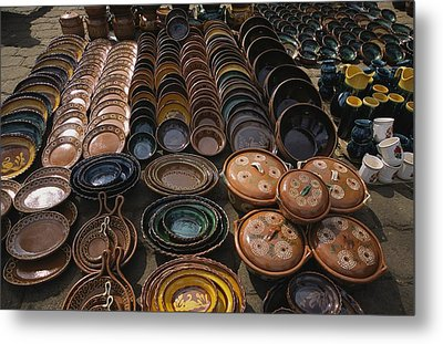 Handmade Ceramics And Pottery For Sale Metal Print by Gina Martin