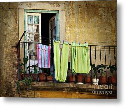 Hanged Clothes Metal Print by Carlos Caetano
