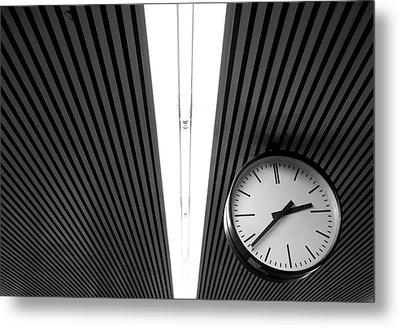 Hanging Clock Metal Print by Christoph Hetzmannseder