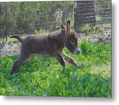 Happy Baby Metal Print by De Beall