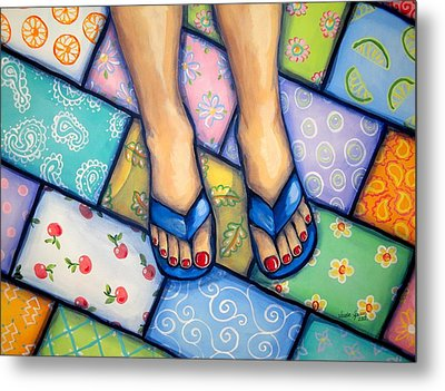Happy Feet Metal Print by Sandra Lett