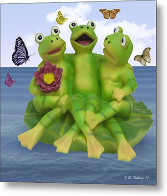 Happy Frogs Metal Print by Brian Wallace