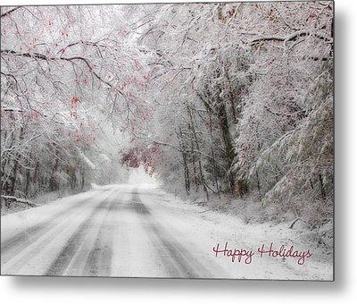 Happy Holidays - Clarks Valley Metal Print by Lori Deiter