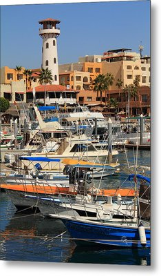Harbor Waterfront In Cabo San Lucas Metal Print by Roupen  Baker
