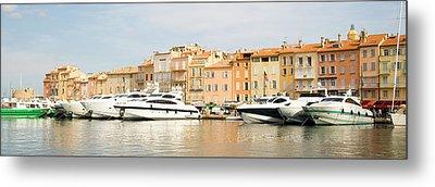 Harbour, St. Tropez, Cote D'azur, France Metal Print by John Harper