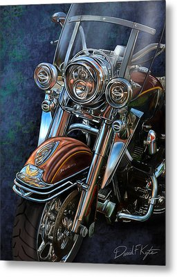 Harley Davidson Ultra Classic Metal Print by David Kyte