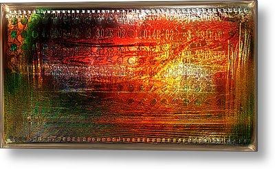 Harmonic Distortion Metal Print by Li   van Saathoff
