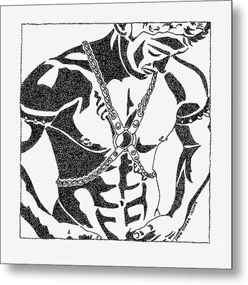 Harnessed In Chains Metal Print by John Stofka