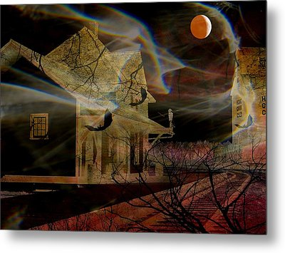 Haunted Evening Metal Print by Shirley Sirois