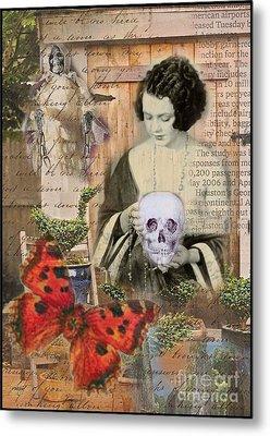 Haunted Garden Metal Print by Ruby Cross
