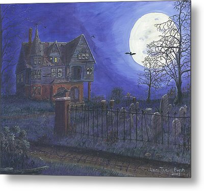 Haunted House Metal Print by Lori  Theim-Busch
