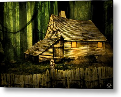 Haunted Shack Metal Print by Lourry Legarde
