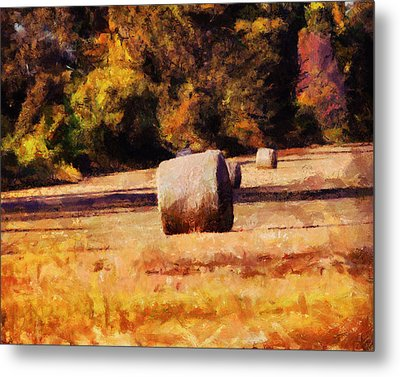 Hay Bales Metal Print by Jai Johnson