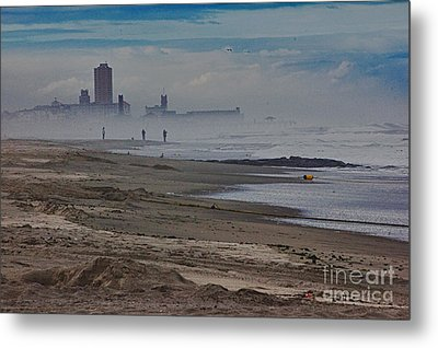 Hdr Beach Beaches Ocean Sea Seaview Waves Sandy Photos Pictures Photography Scenic Photograph Photo  Metal Print by Pictures HDR