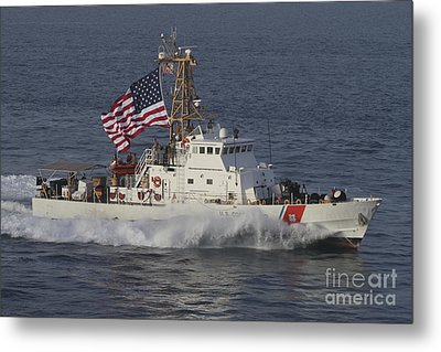 He U.s. Coast Guard Cutter Adak Metal Print by Stocktrek Images