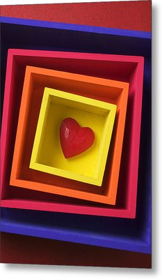 Heart In Boxes  Metal Print by Garry Gay