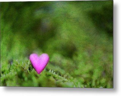 Heart In Moss Metal Print by Alexandre Fundone