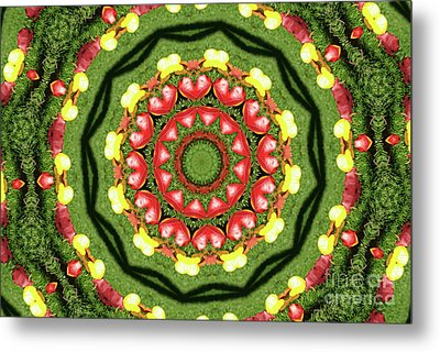 Heart Kaleidoscope Metal Print by Mariola Bitner