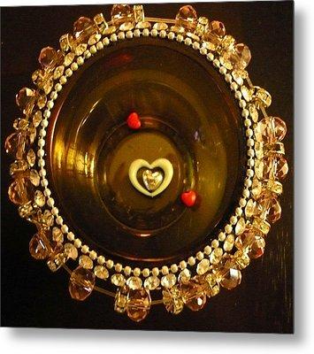 Heart Mandala Metal Print by Debra Jacobson