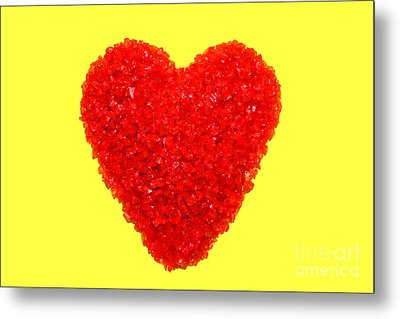 Heart Of Glass Metal Print by Olivier Le Queinec