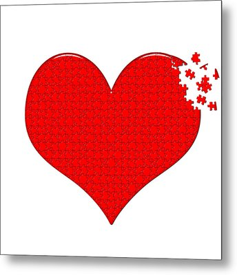 Heart Puzzle Metal Print by Hans Engbers