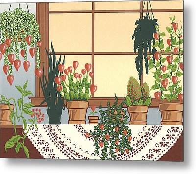 Hearts A' Bloom Metal Print by Anne Gifford