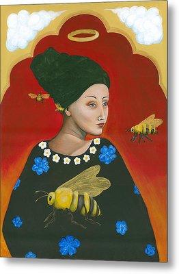 Heavenly Mother Of The Honeybee Metal Print by Christina Miller